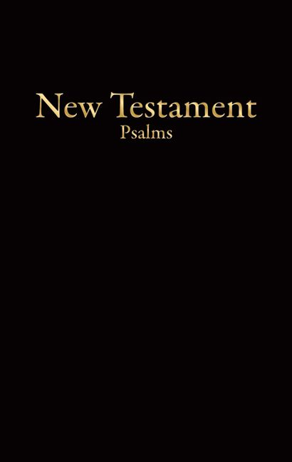 KJV Economy New Testament with Psalms, Black Imitation Leather