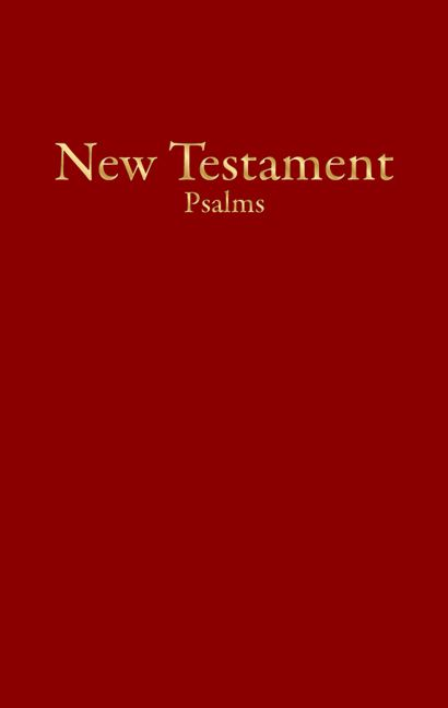 KJV Economy New Testament with Psalms, Burgundy Imitation Leather