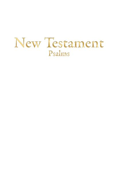 KJV Economy New Testament with Psalms, White Imitation Leather