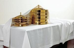 Communion Element Cover – Ivory Linen