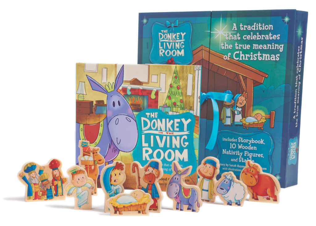 The Donkey in the Living Room Nativity Set