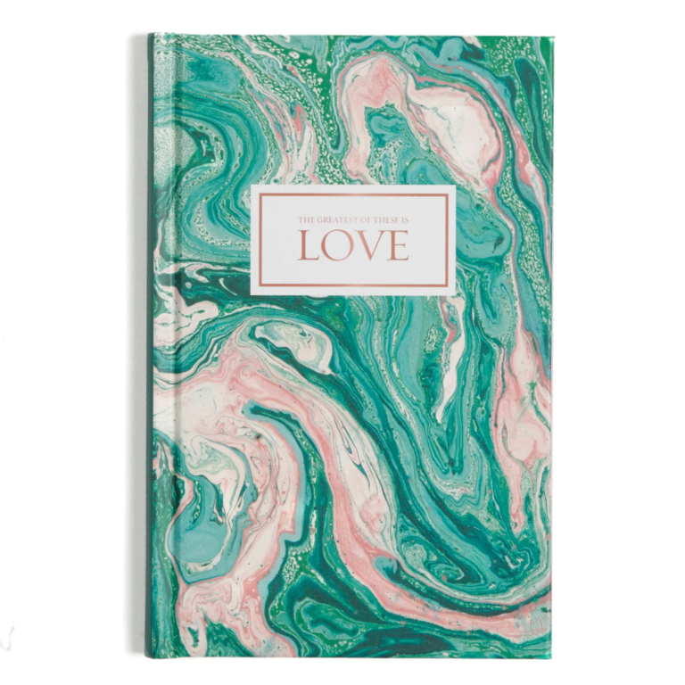 Love-Pink and Teal Marble, Journal