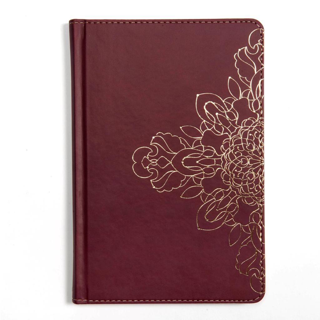 Burgundy with Floral Motif, Journal