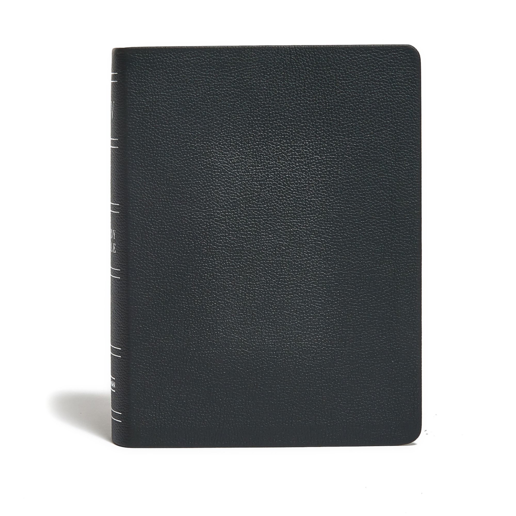 KJV Study Bible, Black Genuine Leather Indexed