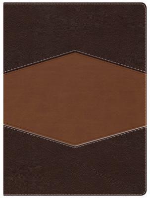 RVR 1960 Biblia de Estudio Holman, chocolate/terracota, símil piel con índice