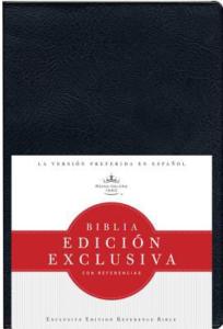 RVR 1960 Biblia Edición Exclusiva con Referencias, negro vinilo