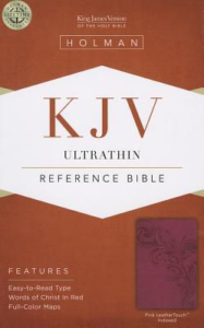 KJV Ultrathin Reference Bible, Pink LeatherTouch Indexed