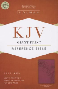 KJV Giant Print Reference Bible, Pink LeatherTouch Indexed