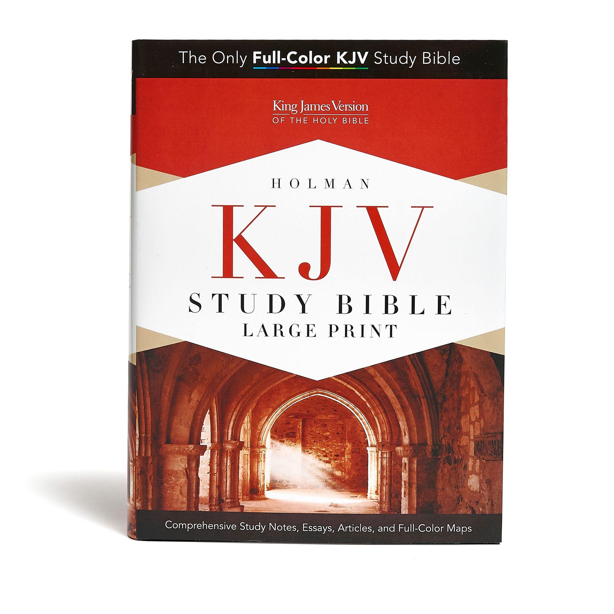 KJV Study Bible Large Print Edition, Hardcover