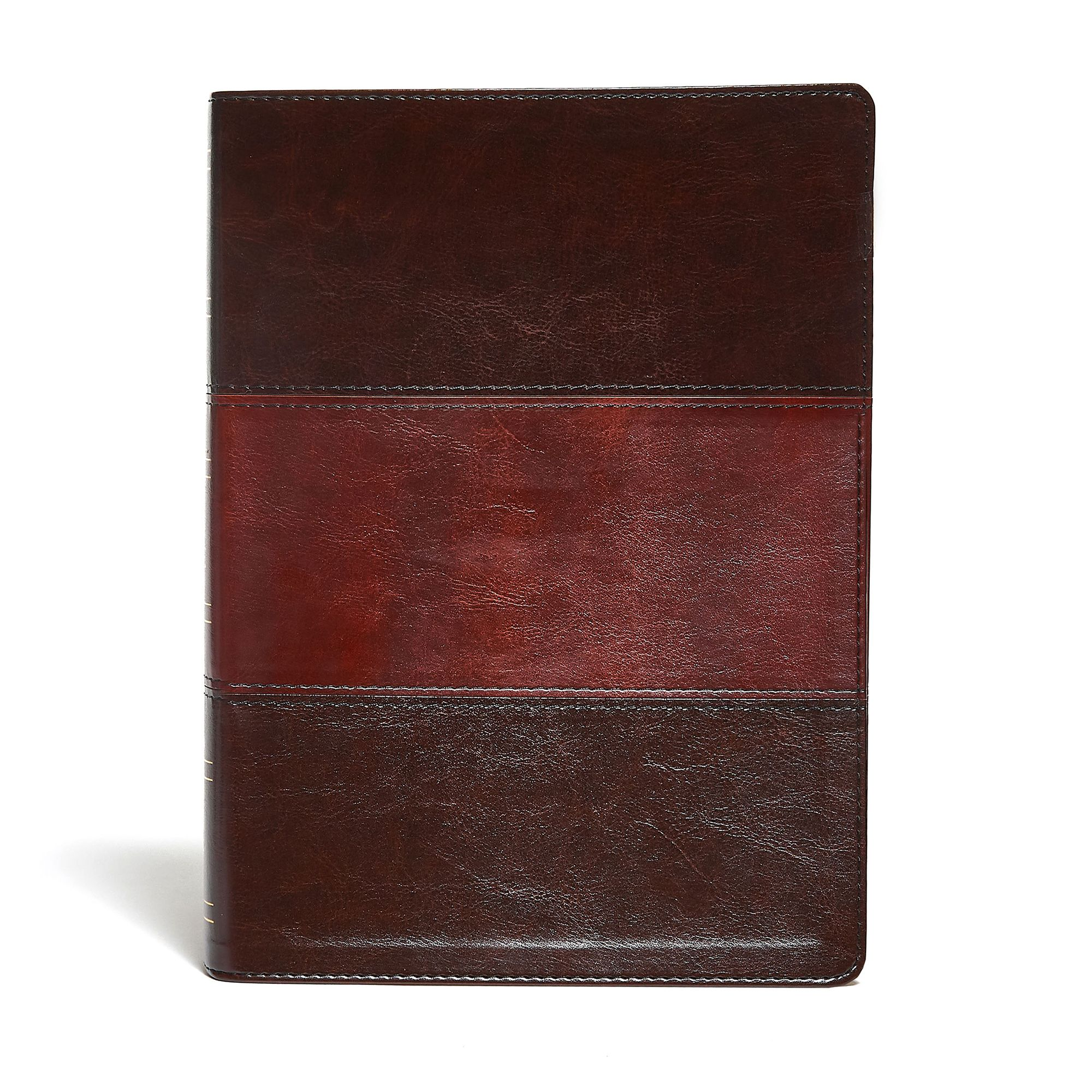 KJV Study Bible Large Print Edition, Saddle Brown LeatherTouch Indexed
