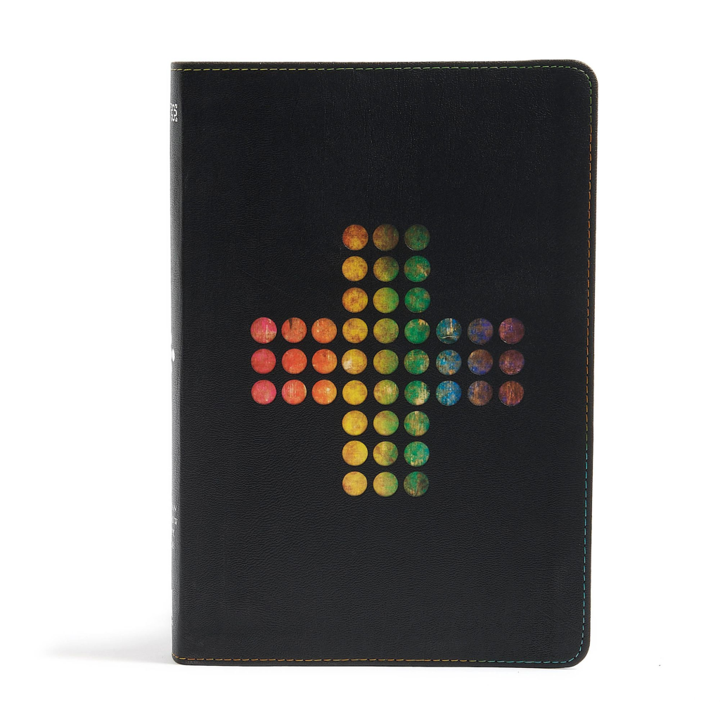 NIV Rainbow Study Bible, Pierced Cross LeatherTouch