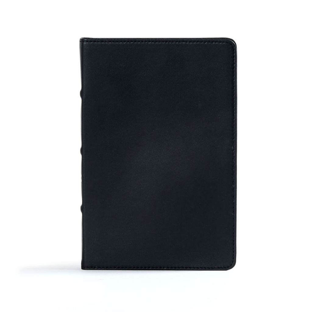 CSB Ultrathin Reference Bible, Black Premium Leather