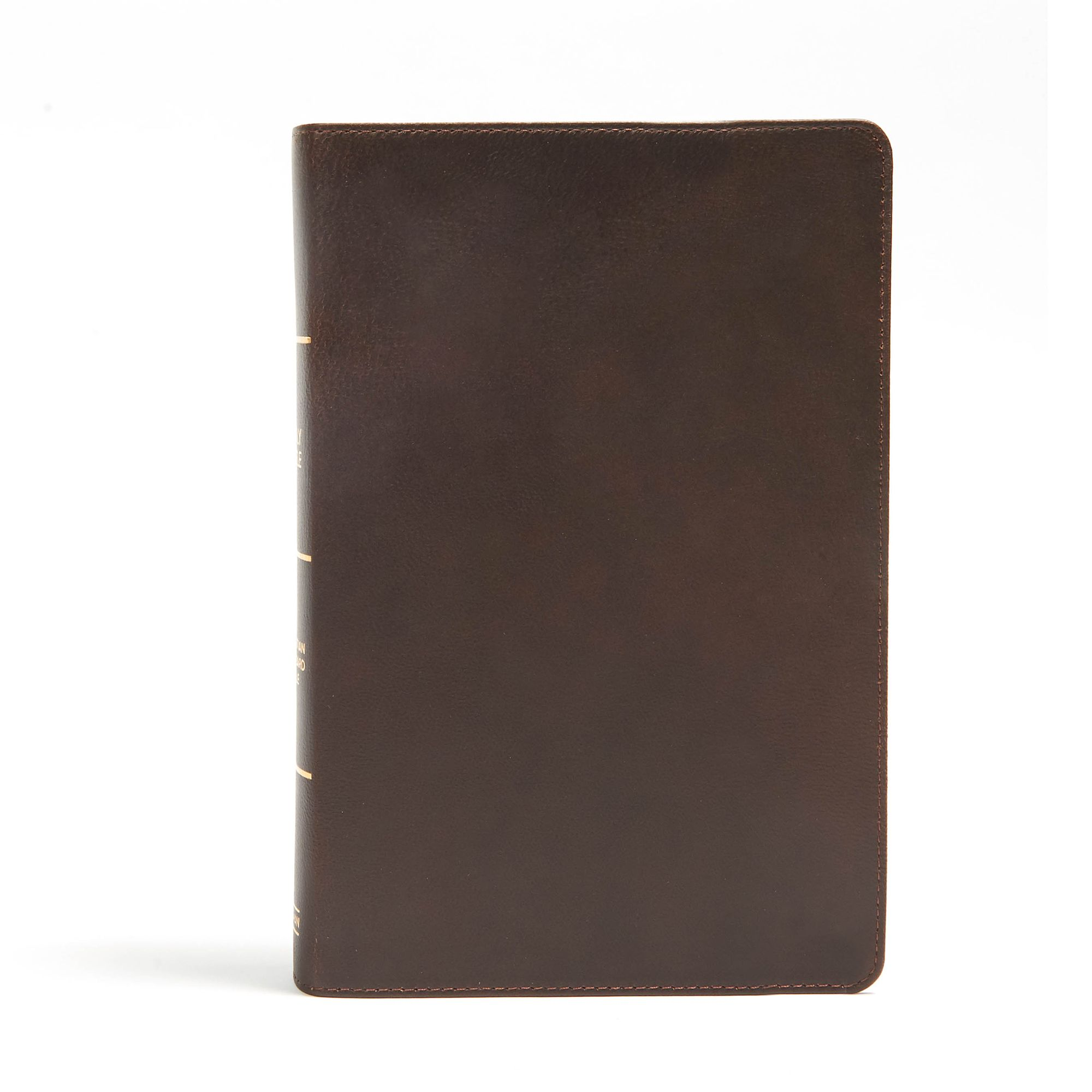 CSB Giant Print Reference Bible, Brown Genuine Leather