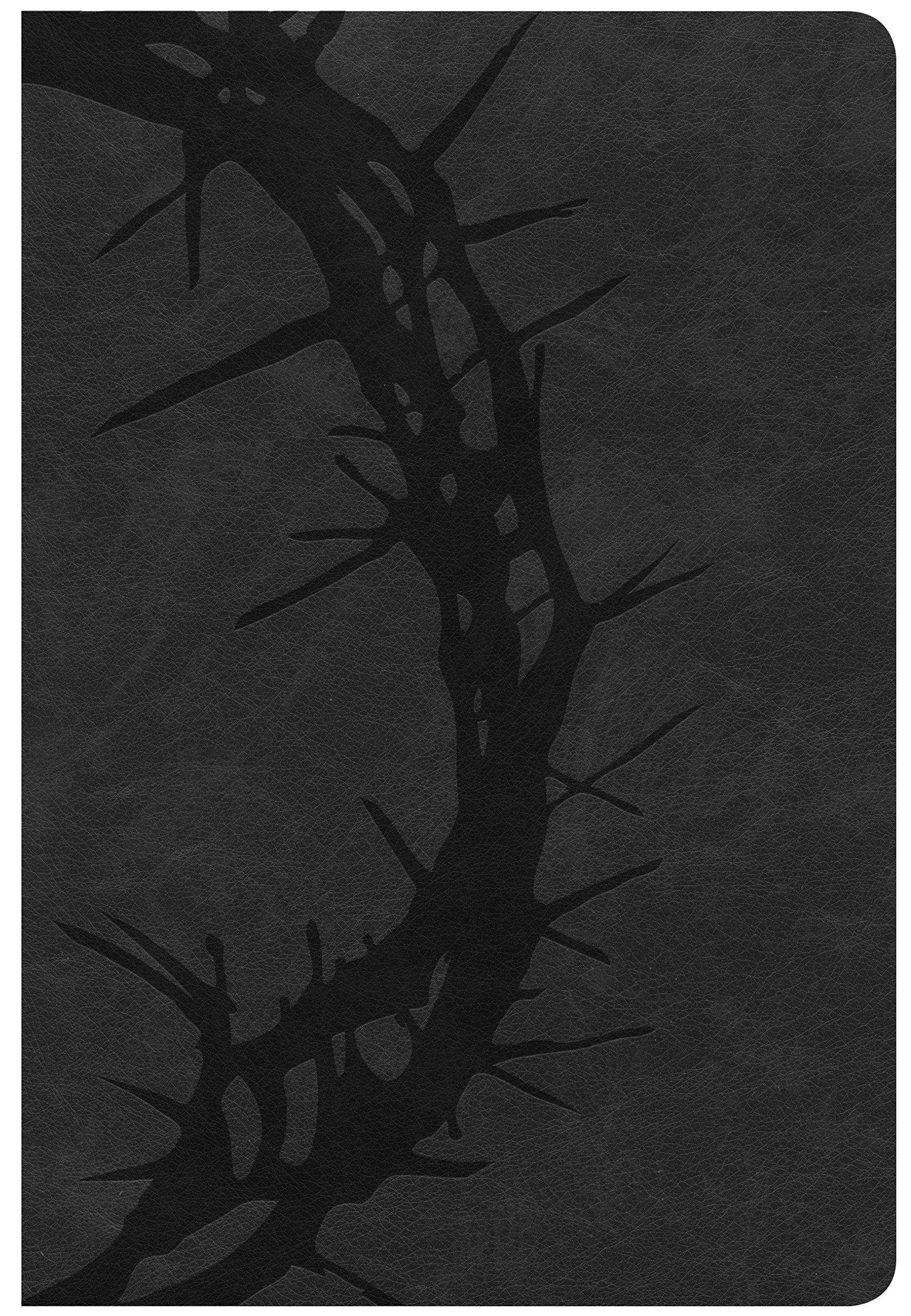 CSB Giant Print Reference Bible, Charcoal LeatherTouch, Indexed