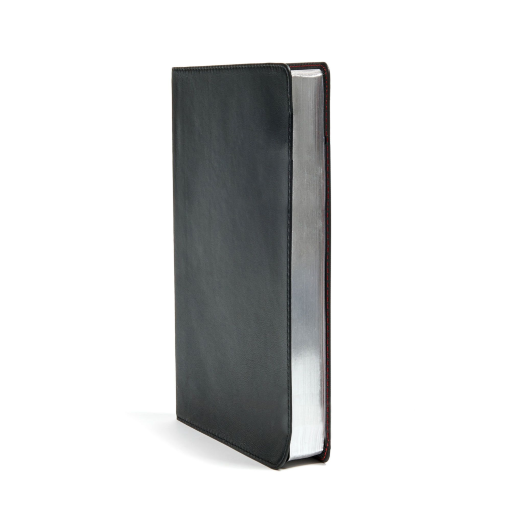 CSB Large Print Ultrathin Reference Bible, Black Premium Leather, Black Letter Edition