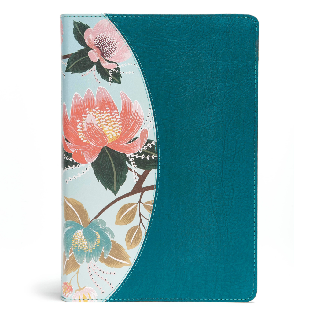 The CSB Study Bible For Women, Teal Flowers LeatherTouch, Indexed