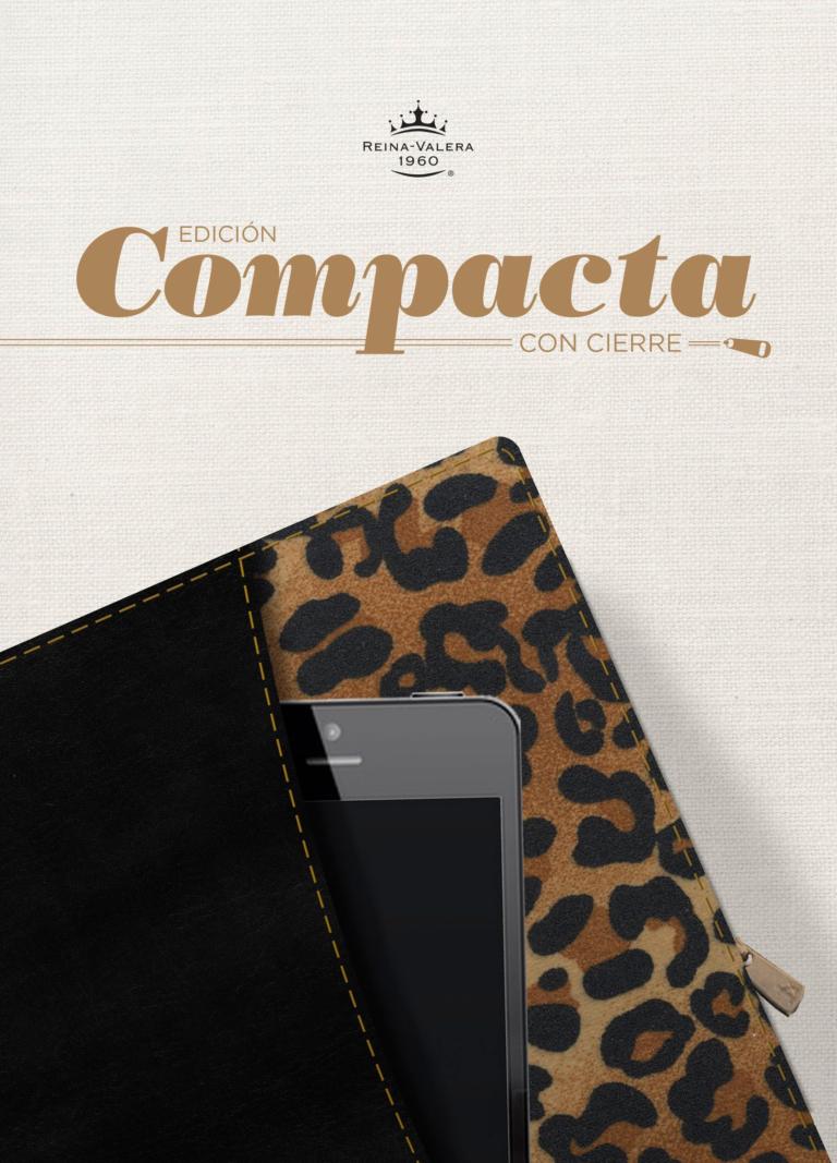 RVR 1960 Biblia, Edición Compacta con cierre, negro/leopardo símil piel