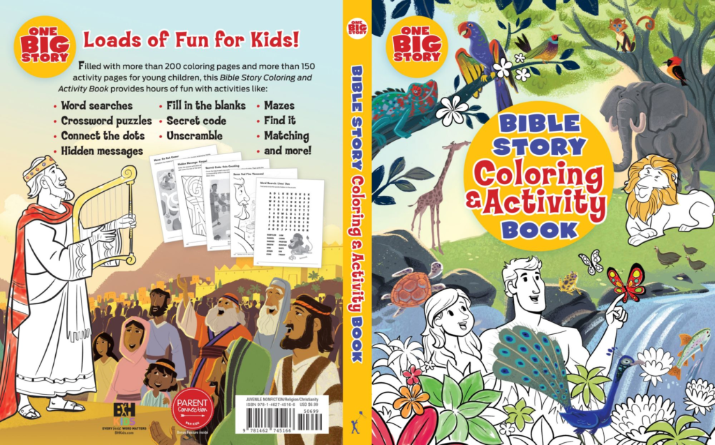 - Bible Story Coloring And Activity Book - B&H Publishing