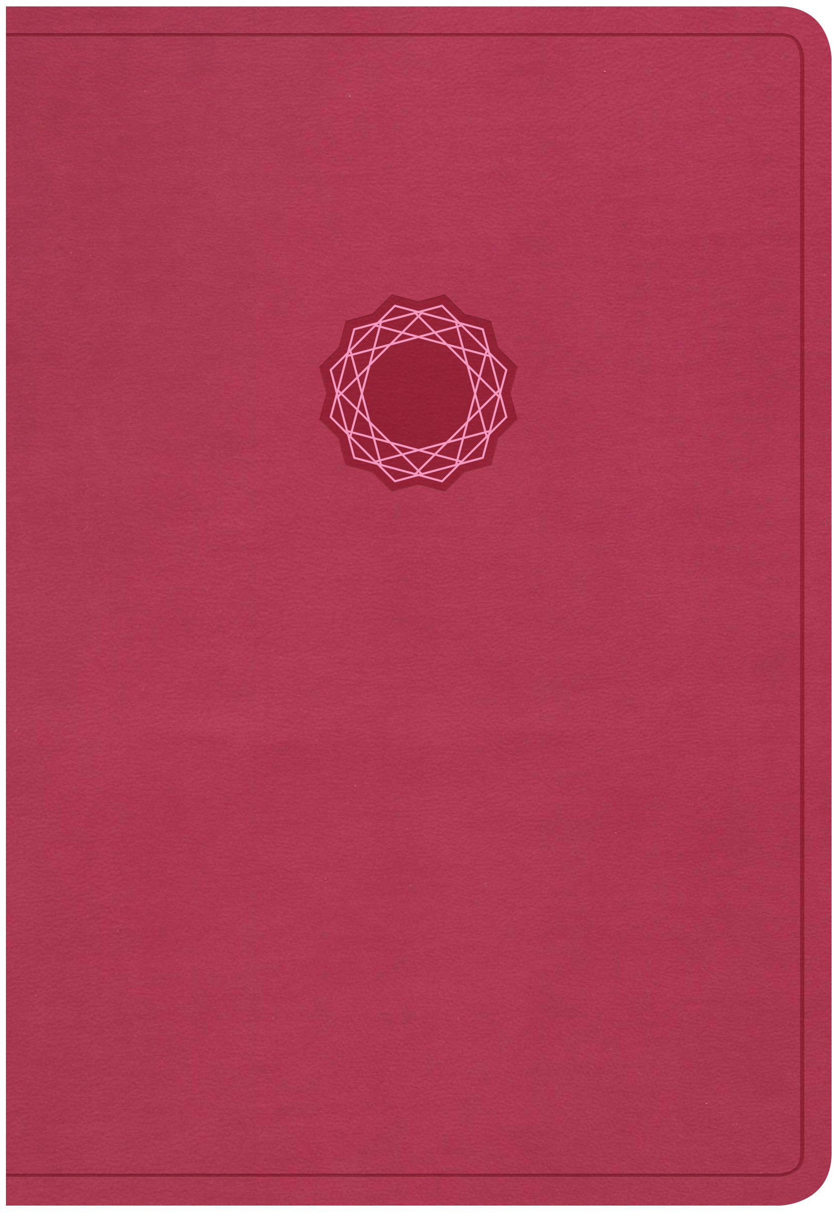 NKJV Deluxe Gift Bible, Pink/Light Pink LeatherTouch