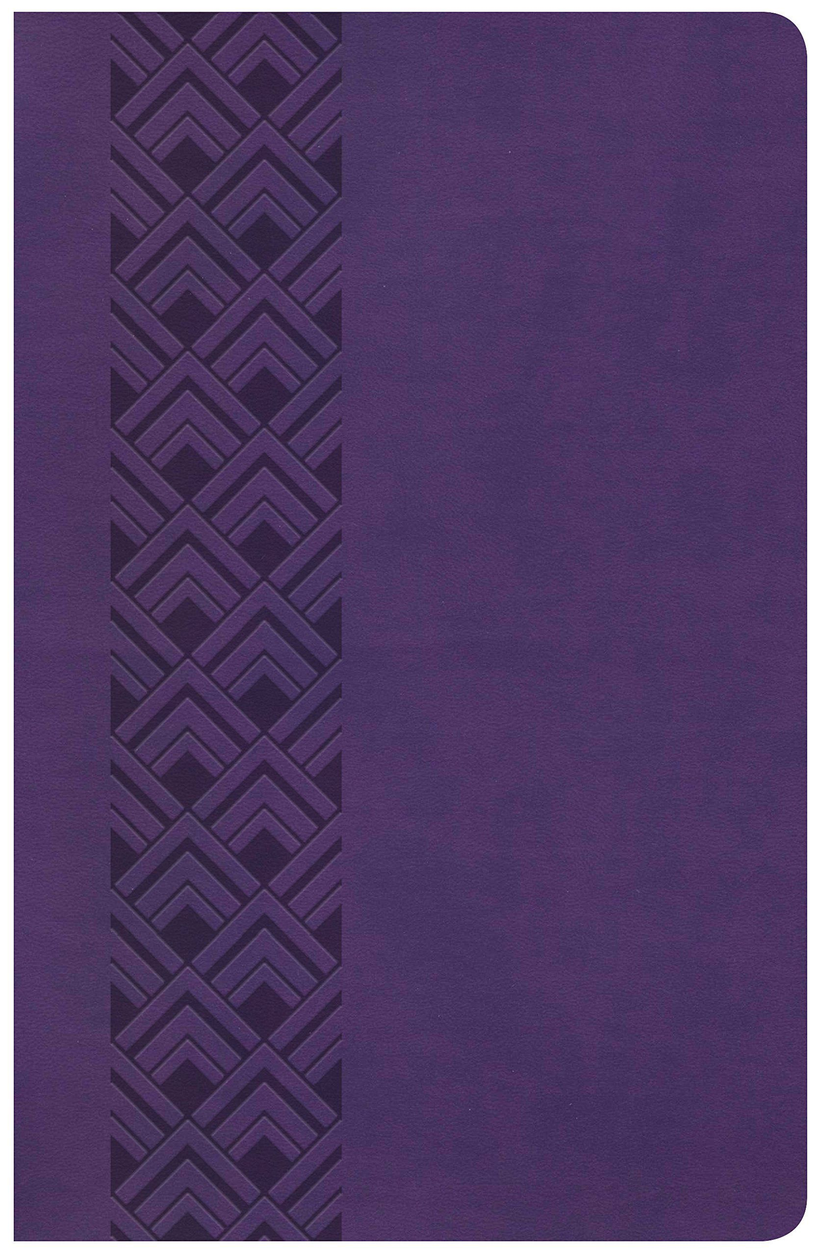 KJV Ultrathin Reference Bible, Value Edition, Purple LeatherTouch