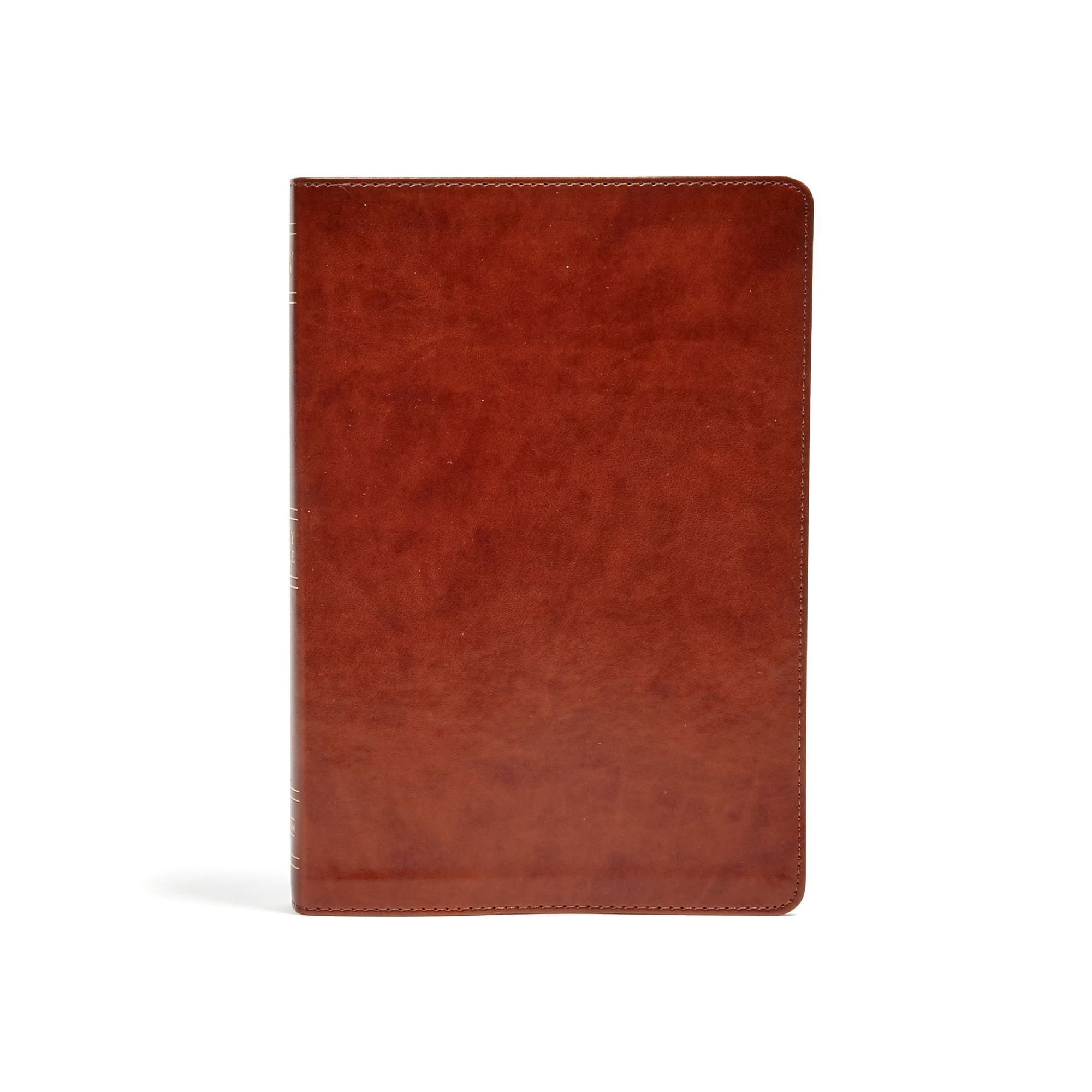 KJV Large Print Ultrathin Reference Bible, British Tan LeatherTouch, Black Letter Edition