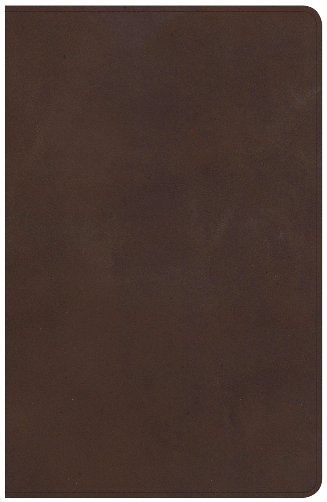 NKJV Large Print Personal Size Reference Bible, Brown Genuine Leather, Indexed