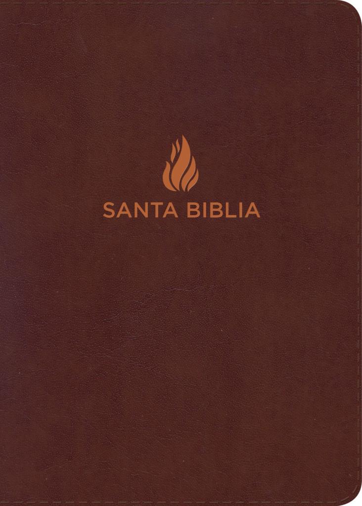 RVR 1960 Biblia Letra Súper Gigante marrón, piel fabricada con índice