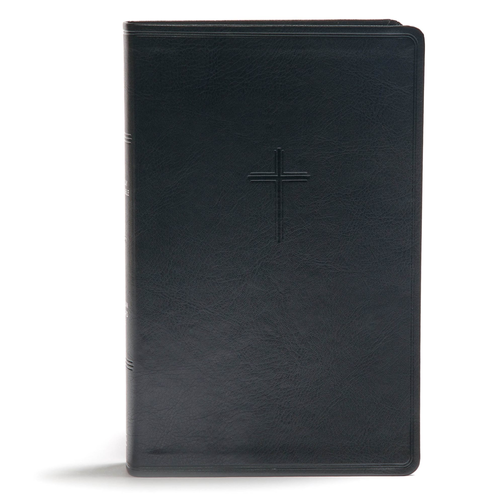 CSB Everyday Study Bible, Black LeatherTouch