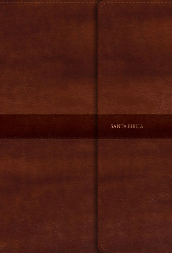 RVR 1960 Biblia Letra Súper Gigante marrón, símil piel y solapa con imán