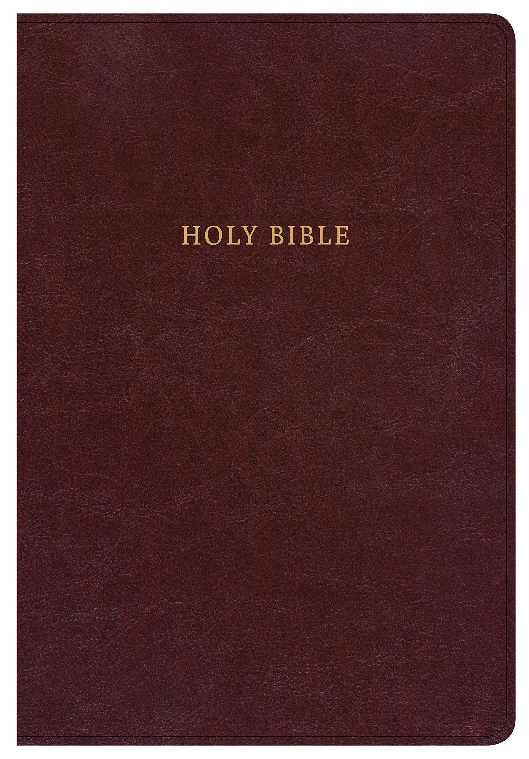 NKJV Super Giant Print Reference Bible, Classic Burgundy LeatherTouch, Indexed