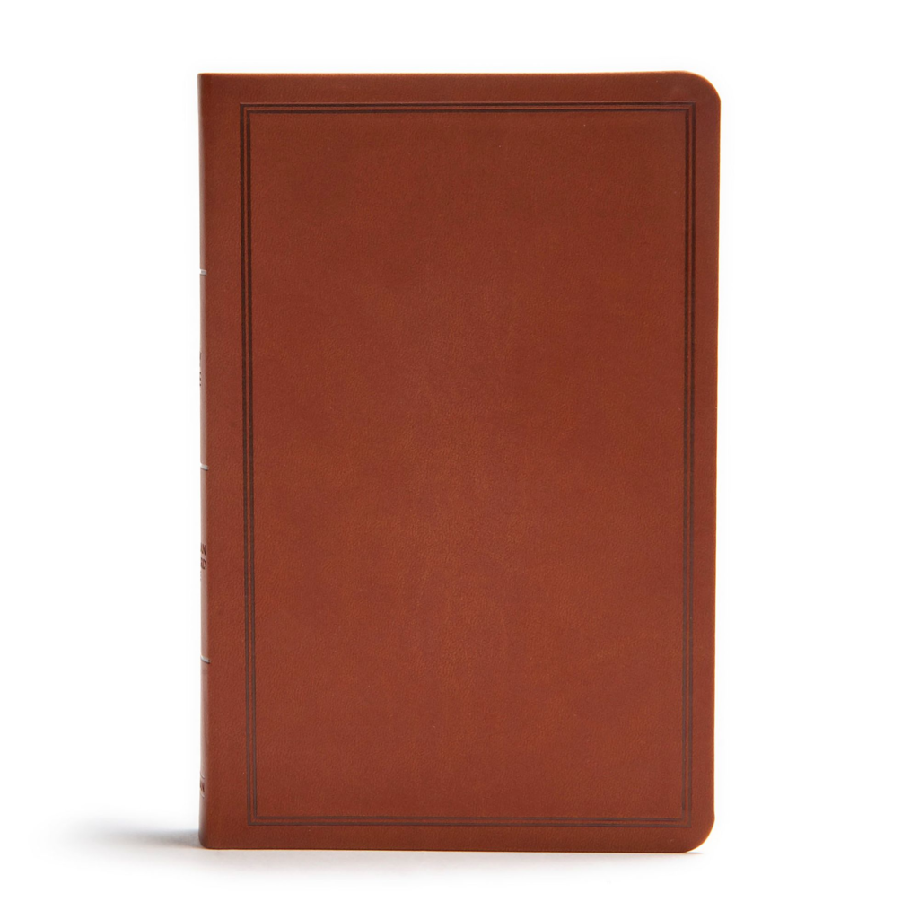 CSB Deluxe Gift Bible, Brown LeatherTouch