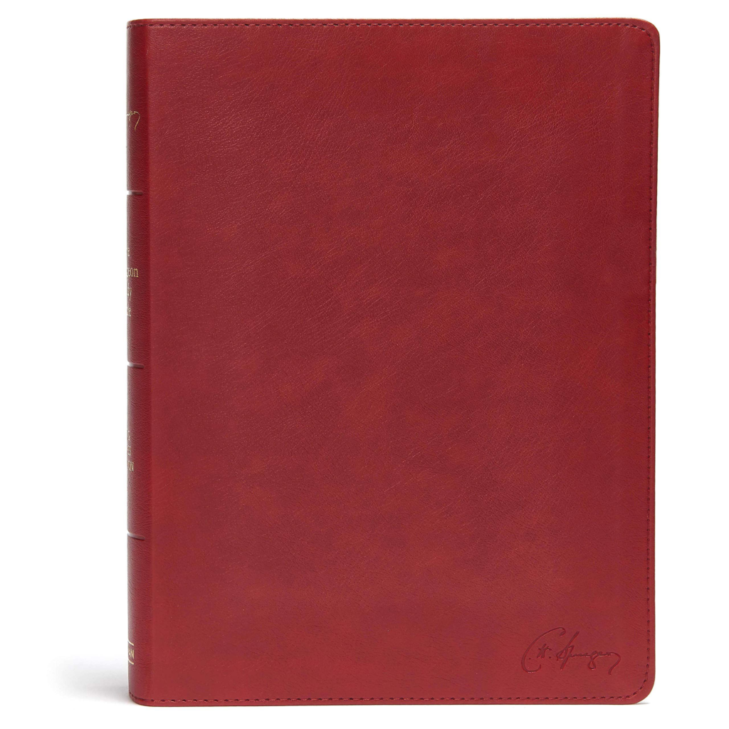 KJV Spurgeon Study Bible, Crimson LeatherTouch