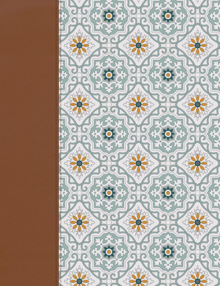 NVI Biblia de Apuntes, azulejos color salvia, símil piel