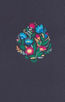 NVI Biblia Ultrafina, azul bordado sobre tela