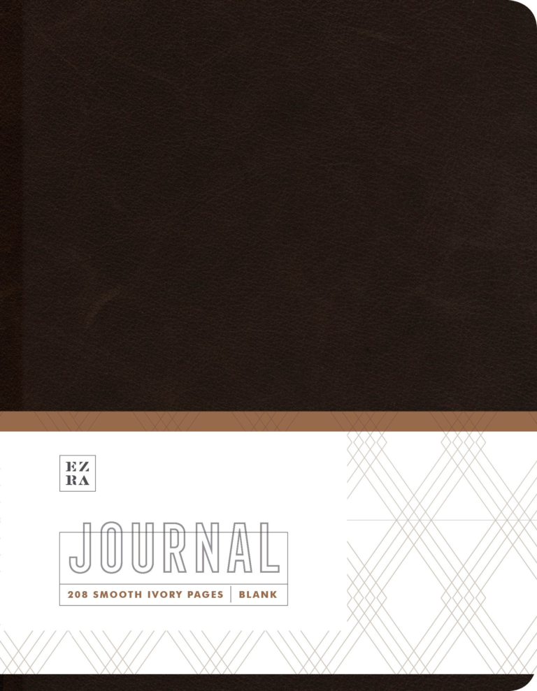 Ezra Dark Leather Journal