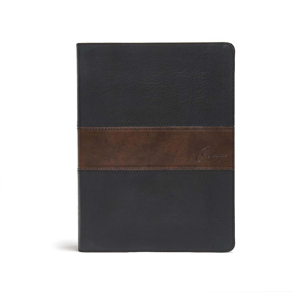 CSB Spurgeon Study Bible, Black/Brown LeatherTouch®