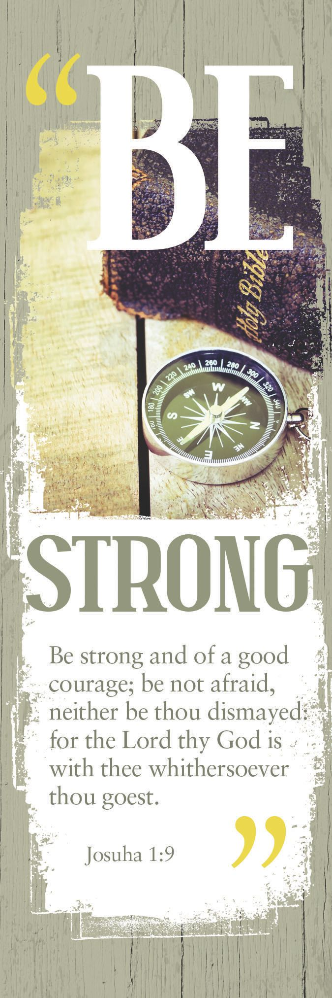 Be Strong MALE – Bookmark (Pkg 25)  General Worship