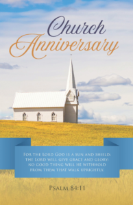 Church Anniversary – Bulletin (Pkg 100) Church Anniversary