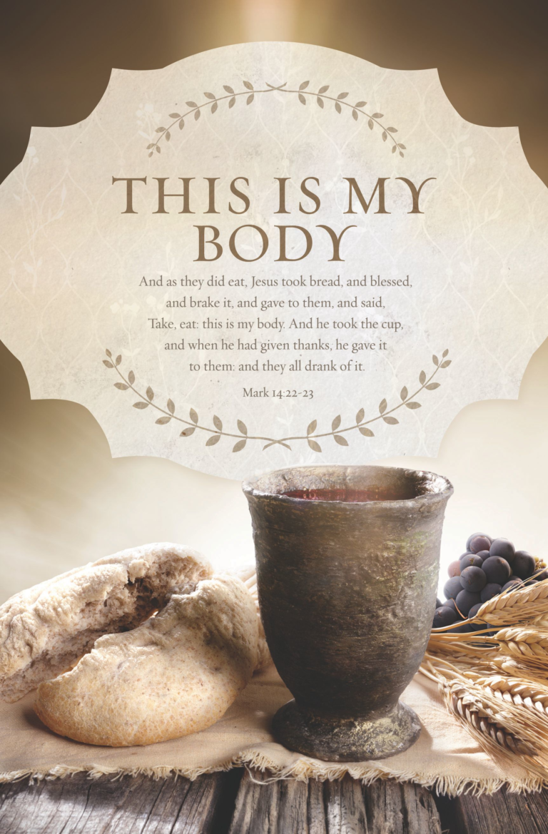 Communion Mark 14:22-23 – Bulletin (Pkg 100) Communion