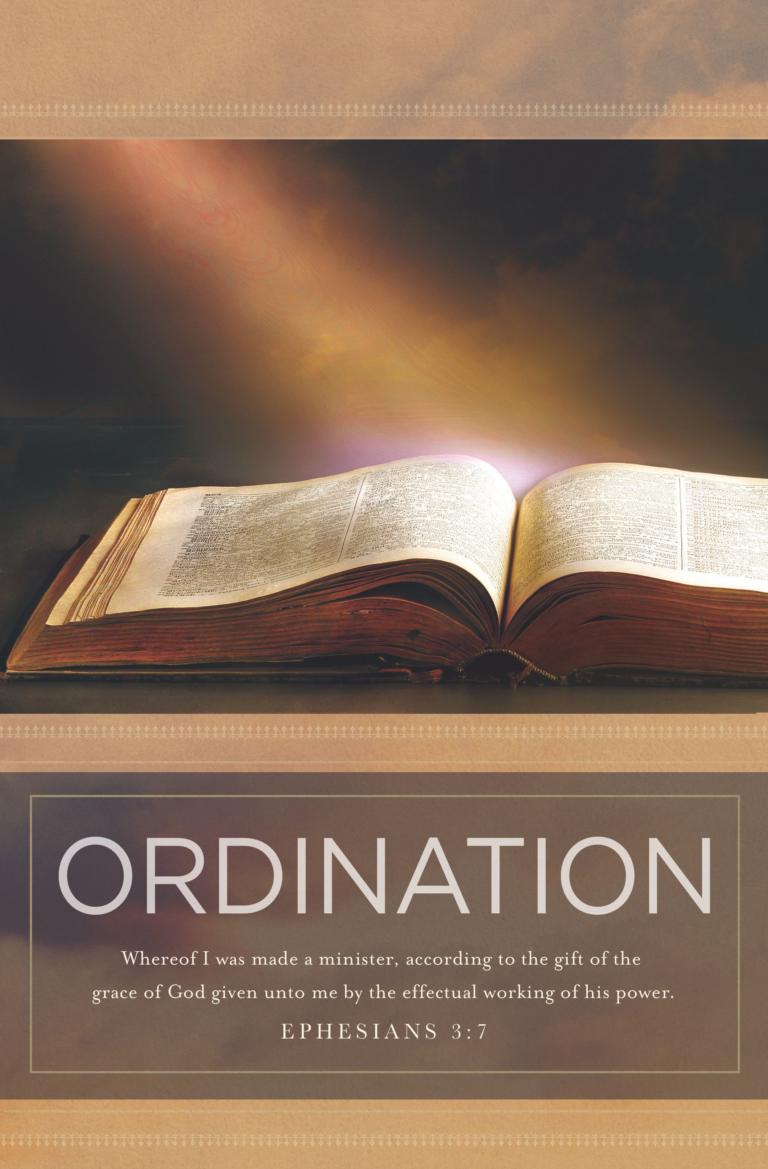 Ordination – Bulletin (Pkg 100) Ordination