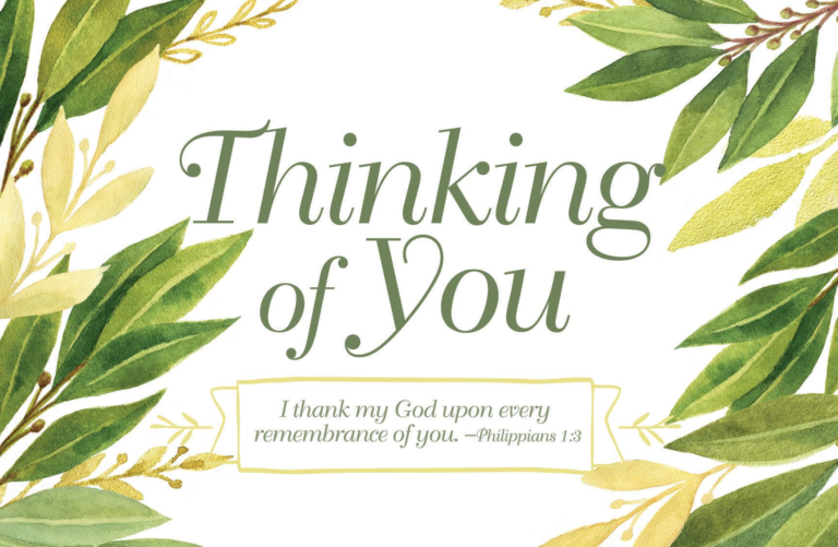 Thinking of You – Postcard (Pkg 25) General Worship