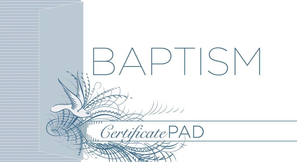 Baptism Certificate (Pad of /25)