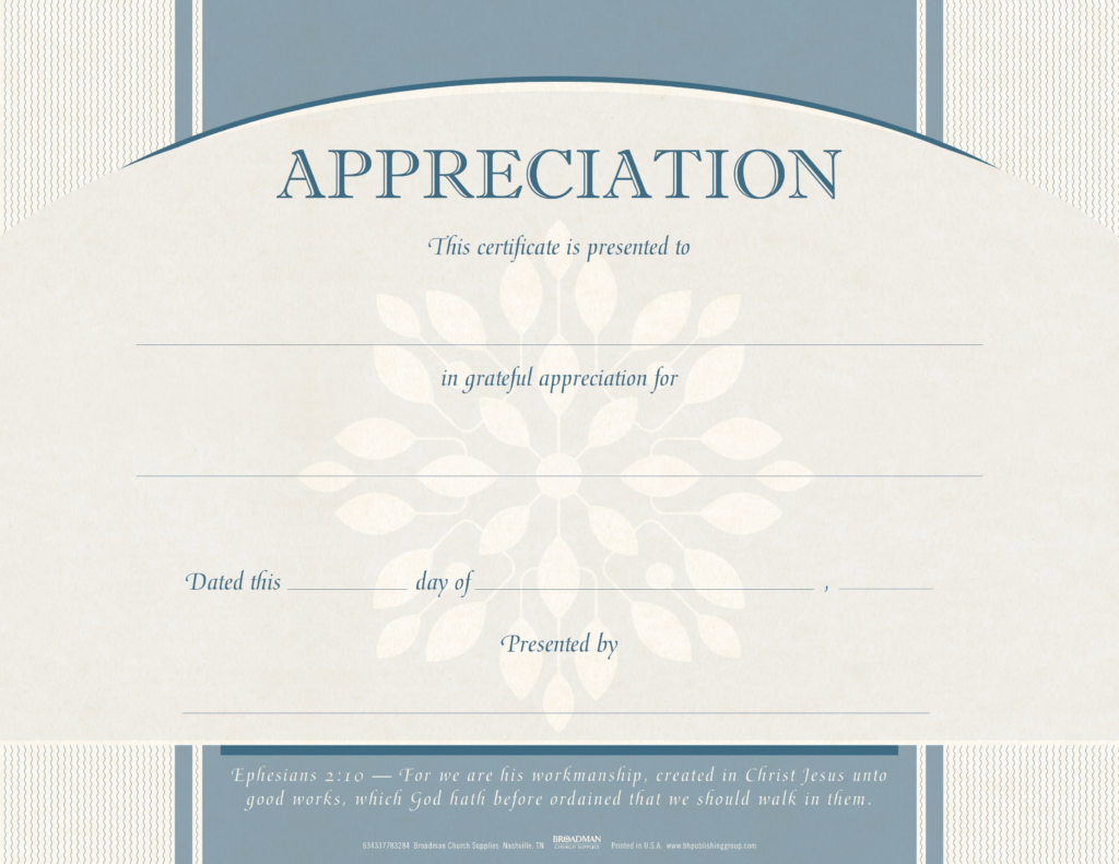 Appreciation Flat Certificate (Pkg 6)