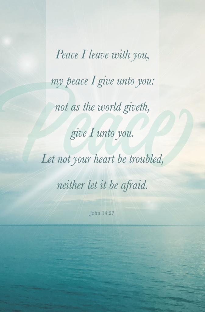 Peace I Leave – Bulletin (Pkg 100) General Worship