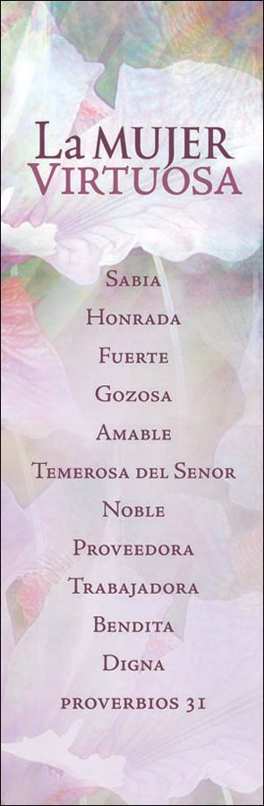 La mujer virtuosa (The Virtuous Woman) – Bookmark (Pkg 25) General Worship
