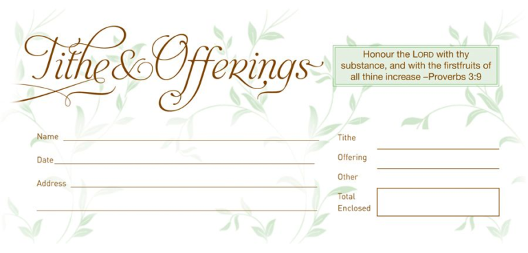 Envelope: Tithe and Offering