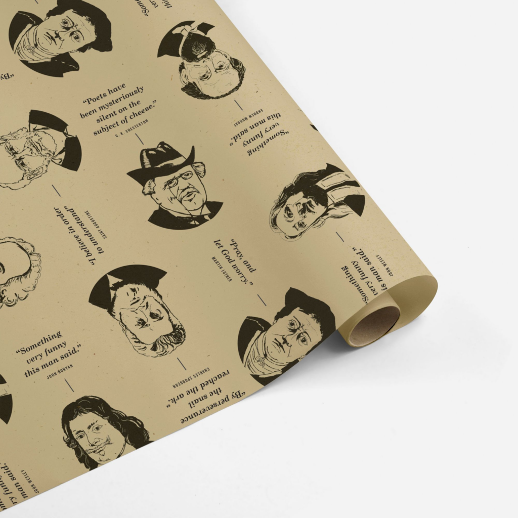 Funny Theologians Wrapping Paper
