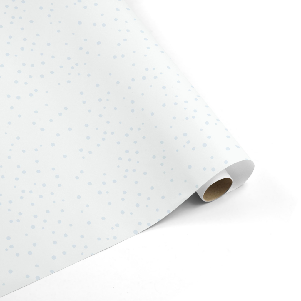 Blue Dot Baby Wrapping Paper
