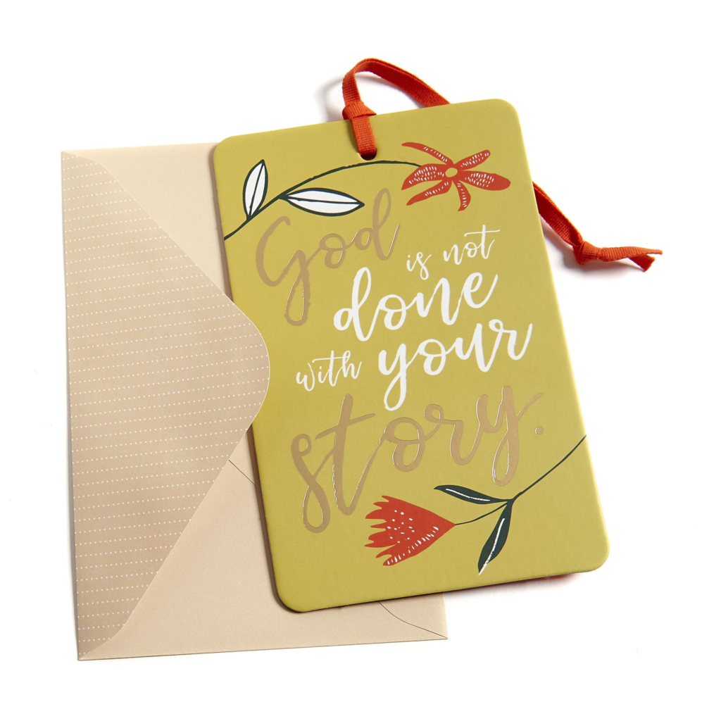 God Is Not Done with Your Story, Keepsake Card