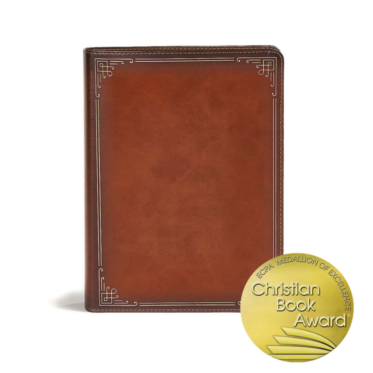 CSB Ancient Faith Study Bible, Tan LeatherTouch, Indexed